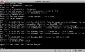 OpenBSD Running Tor