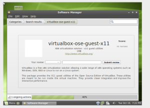 Linux Mint in VirtualBox